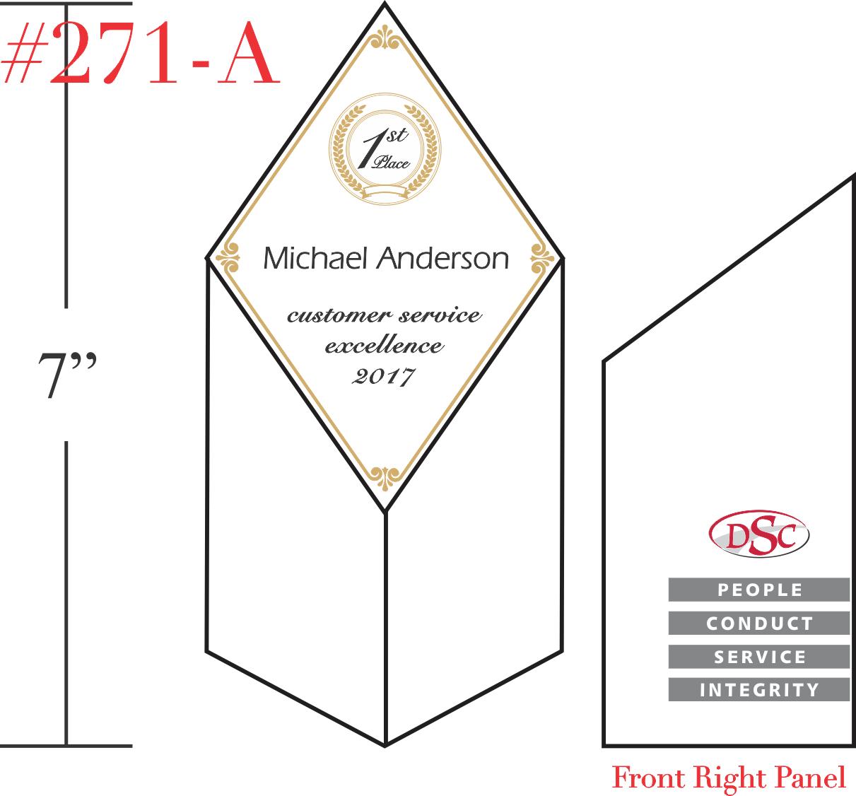 Customer Service Award Tower