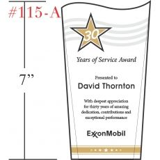Wave Service Recognition Award Wording Sample by Crystal Central – Achievement Award Wording