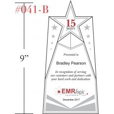 Star Service Recognition Plaque