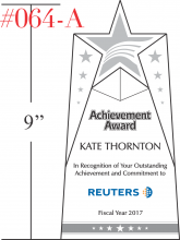 Star Achievement Award Plaque