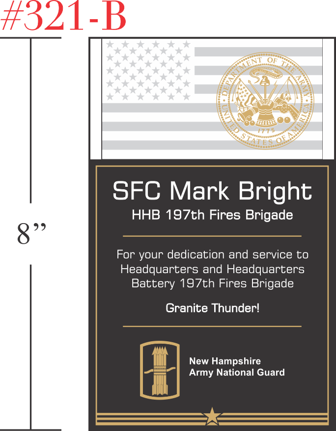 Army Service Recognition Wording #2