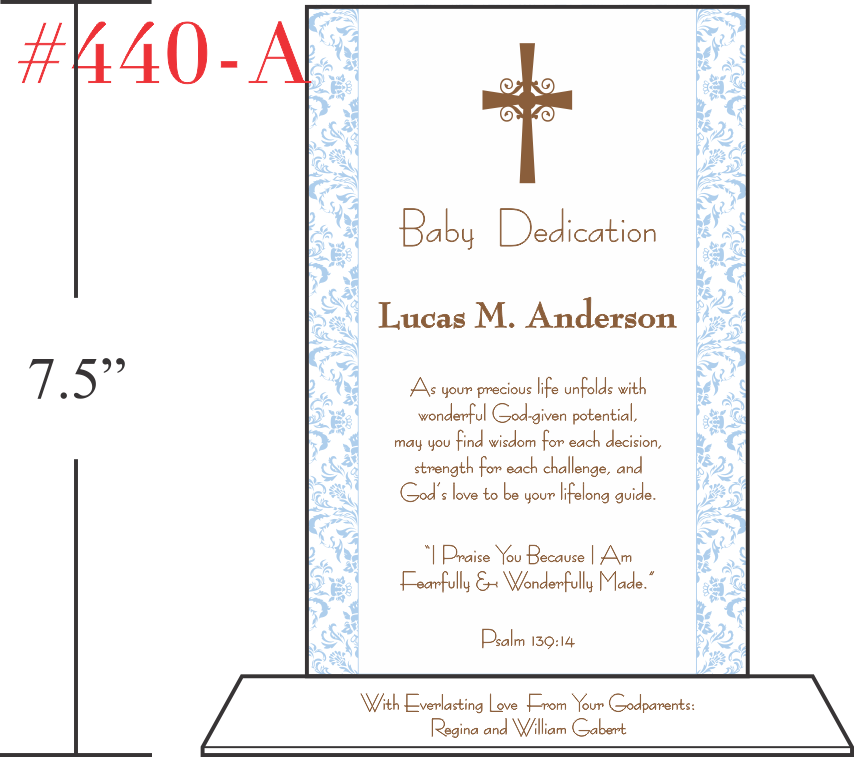 Baby Dedication Plaque For Boys