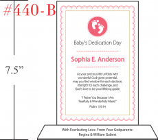 Baby Dedication Plaque For Girls