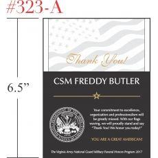 Thank You Soldier Appreciation Award