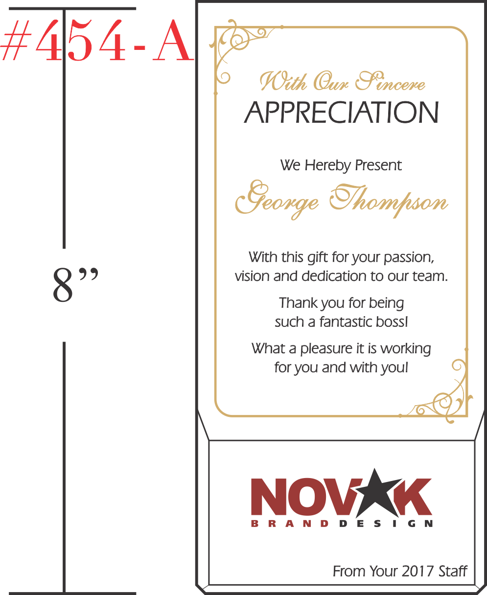 Boss Appreciation Award Idea Wording Sample By Crystal