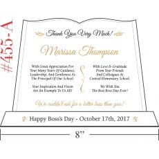 thank you boss day plaque idea wording sample by crystal central thank you boss day plaque idea