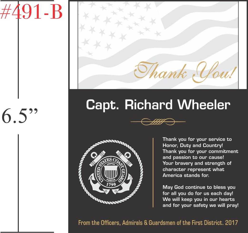 USCG Appreciation Plaque