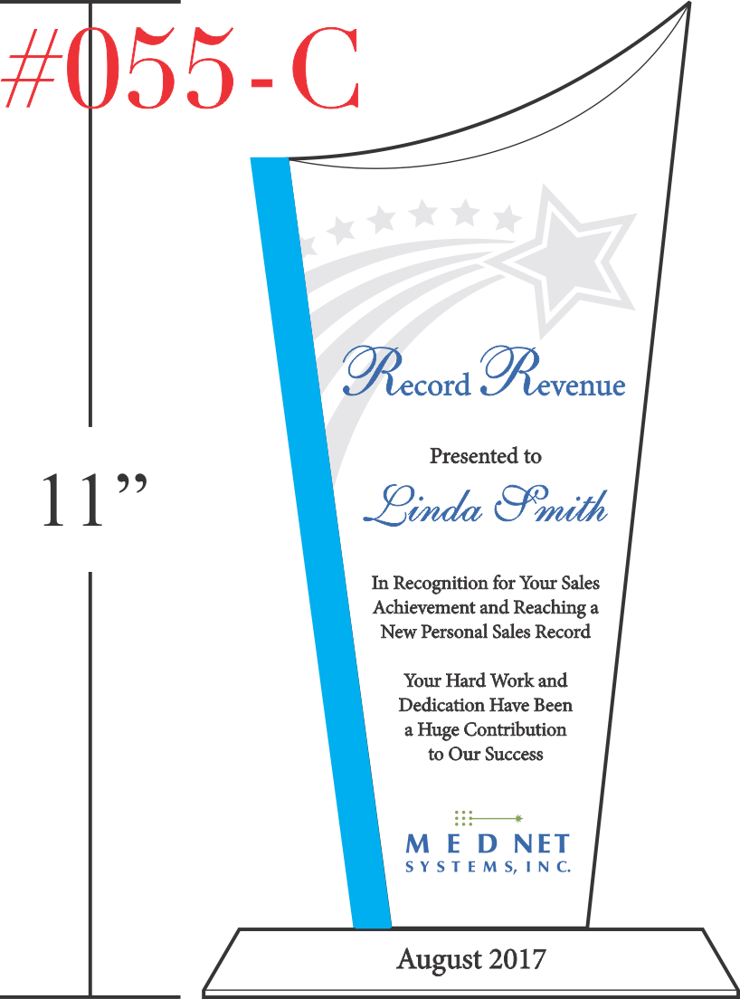 Sample Record Sales Recognition Award Ideas