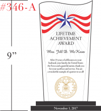 Patriotic Achievement Award Plaque