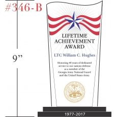 Military Lifetime Achievement Award Wording Sample by Crystal