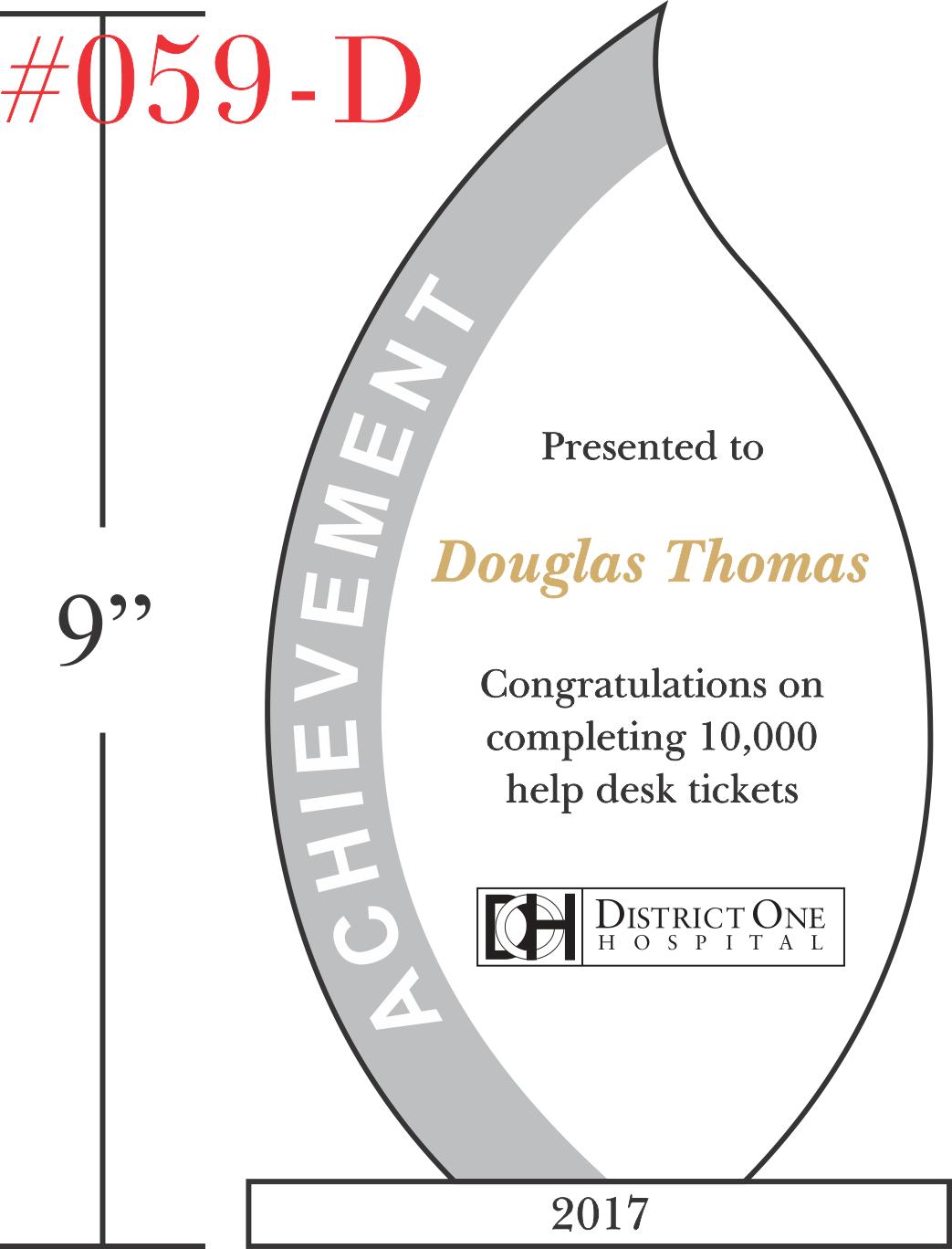 Congratulations on Achievement Award