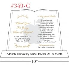 Above & Beyond School Teacher of the Month