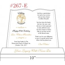 Reverend's Birthday Gift Plaque