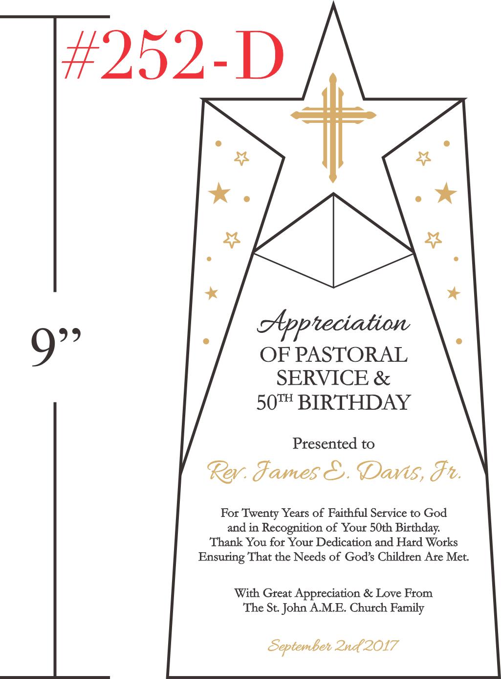 Pastor Appreciation & Birthday Recognition Gift