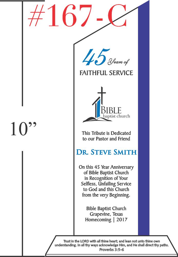 Faithful Service Church Anniversary Gift
