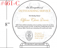 Police Officer Award for Outstanding Service