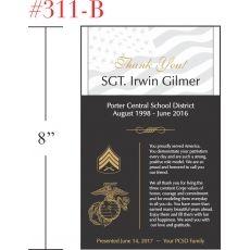 Marine Sergeant Appreciation Gift