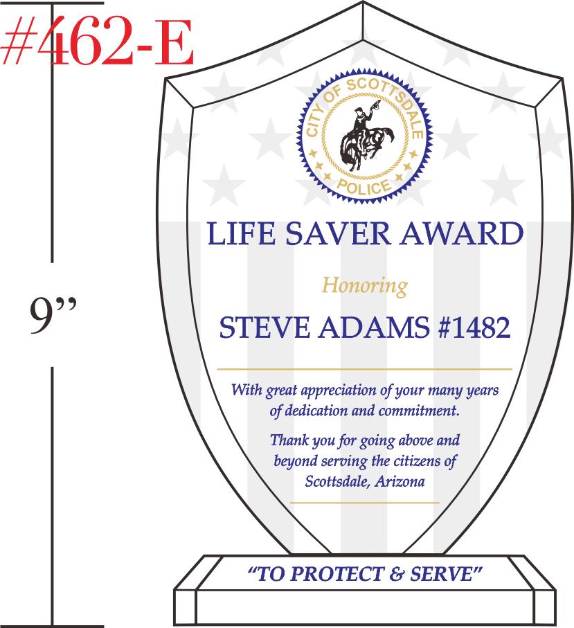 Police Life Saver Award Gift