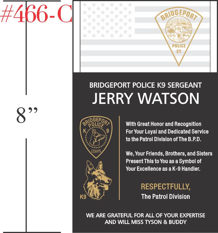 Retirement Gift for K9 Sergeant