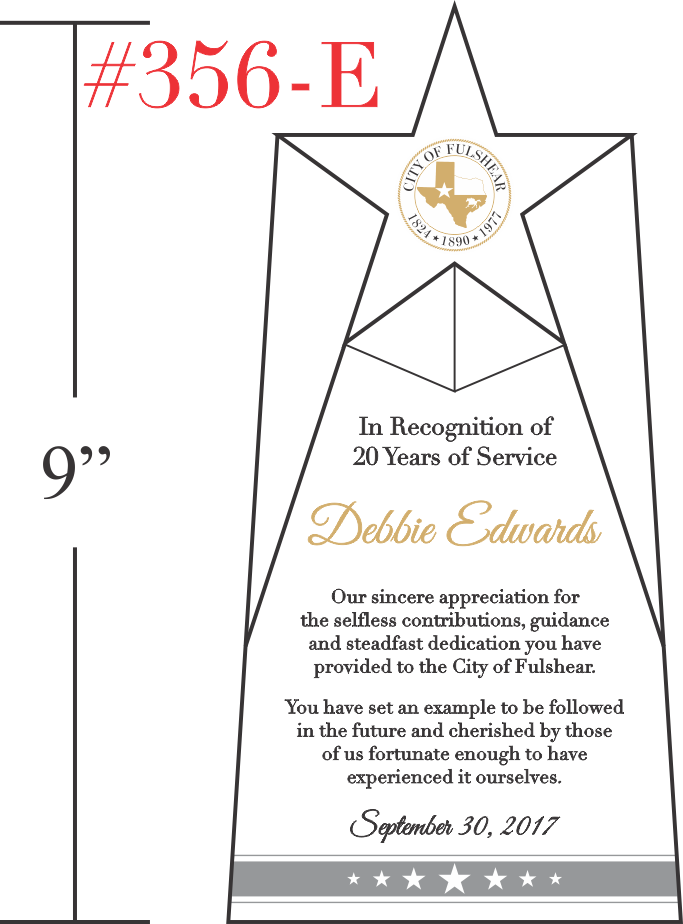 20 Year Public Service Recognition Award