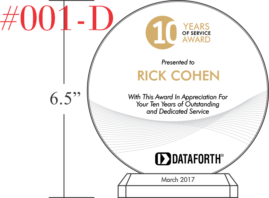 10 Years of Service Award Example