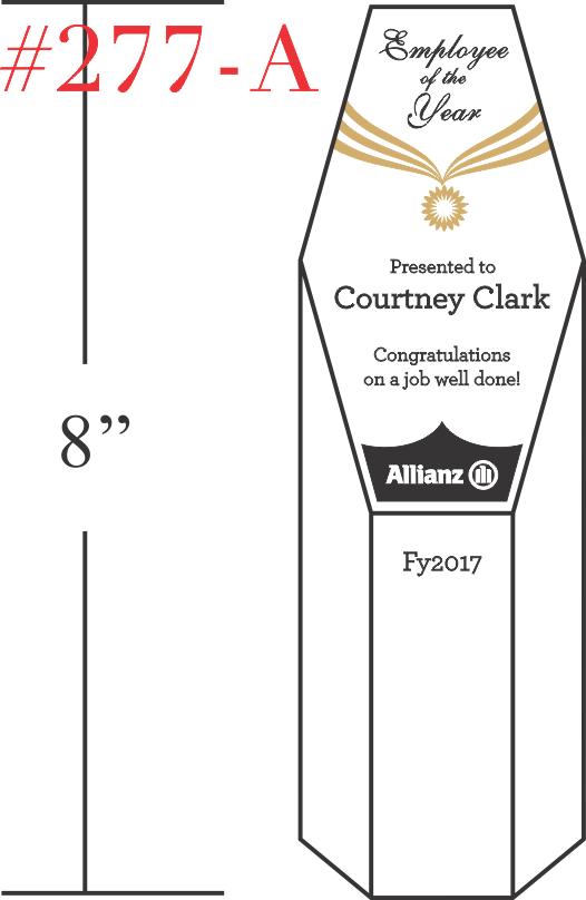Employee of the Year Congratulations Award