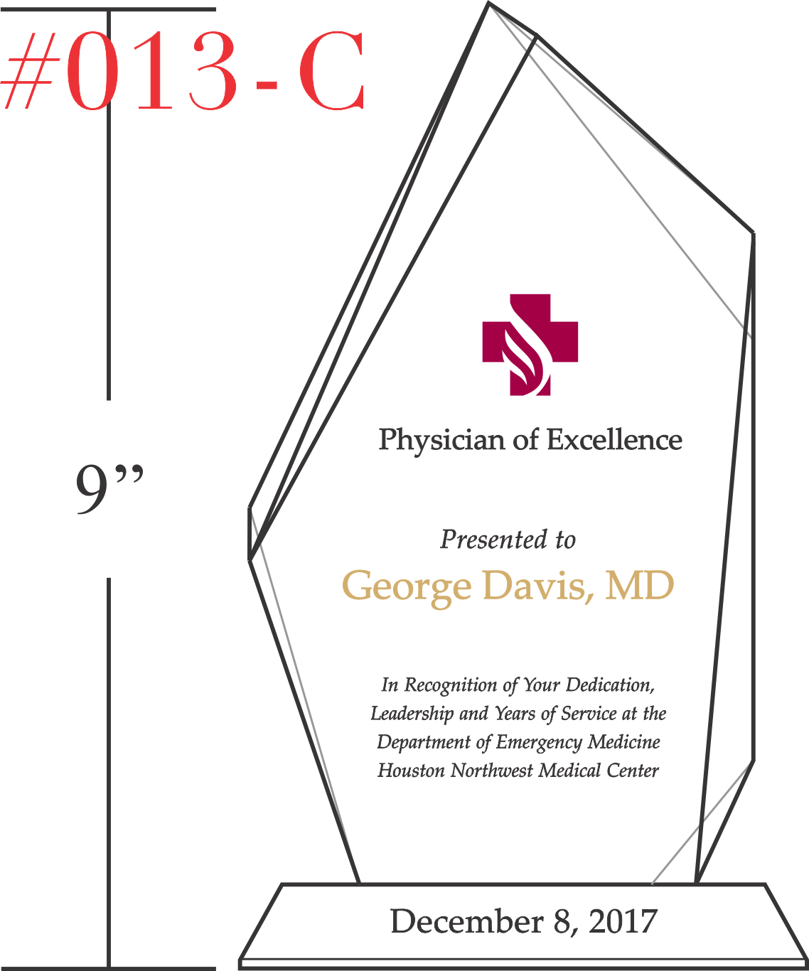 Physician of Excellence Award - Wording Sample by Crystal ...