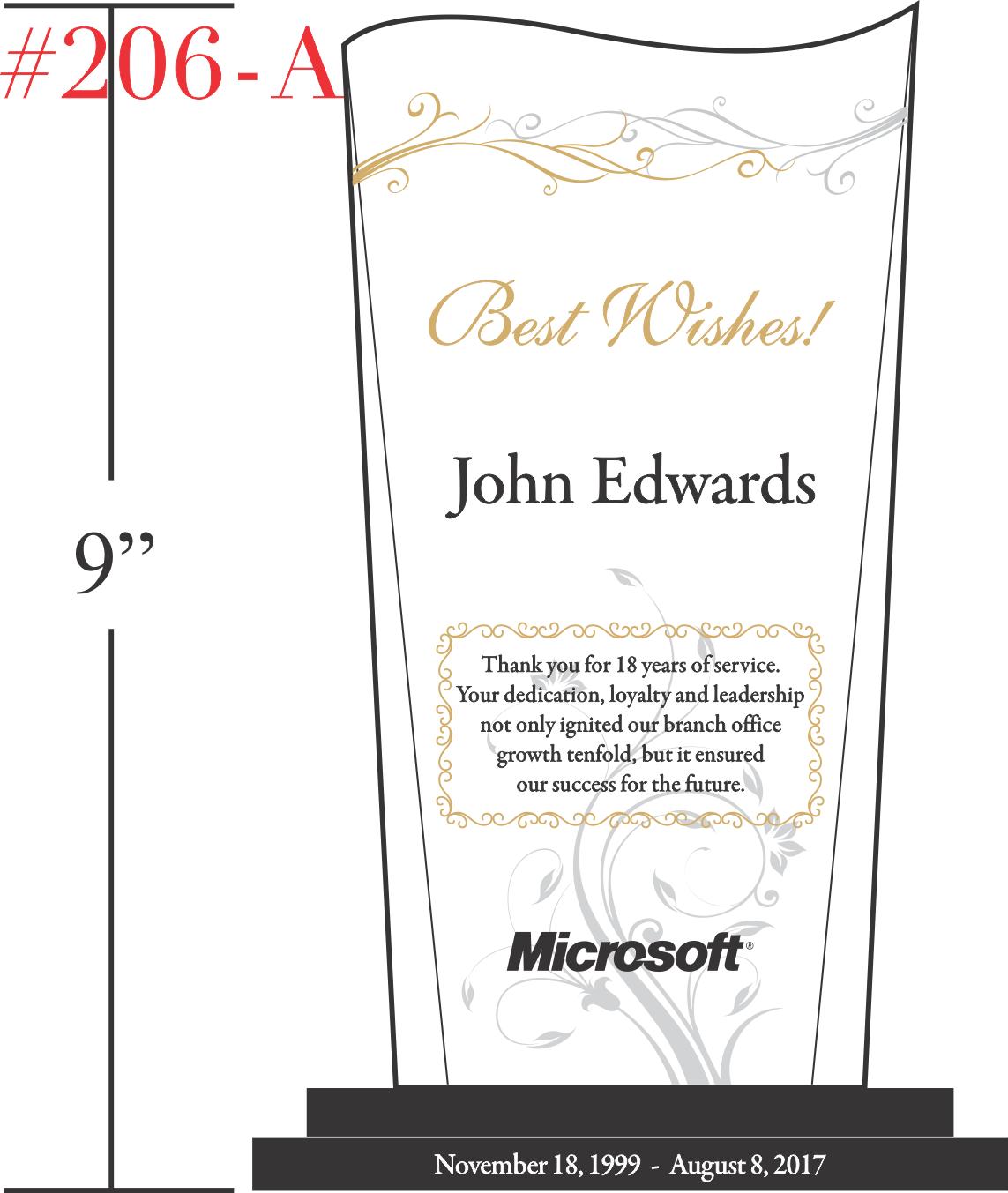 Best Wishes Retirement Gift Plaque