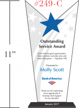 Victory Star Recognition Plaques - Crystal Central