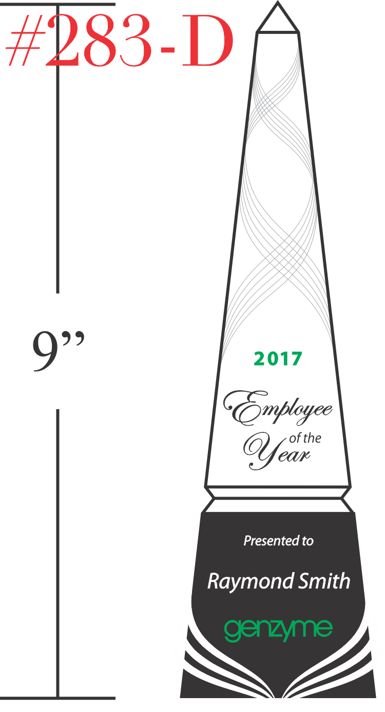 Employee of the Year Tower Award