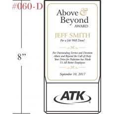 Above & Beyond Employee Award