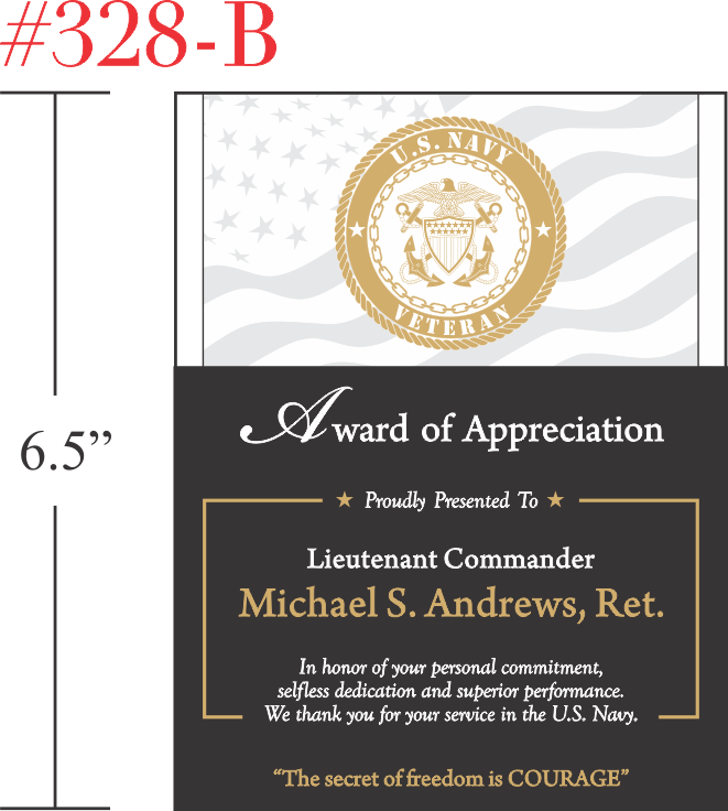 US Navy Veteran Appreciation Award