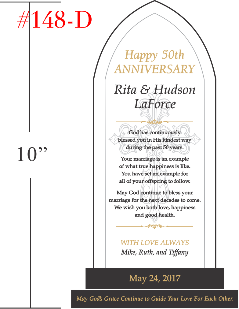 Christian Blessings Anniversary Plaque