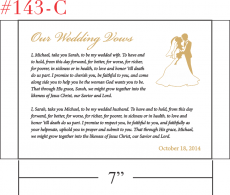 Our Wedding Vows Spiritual Gift