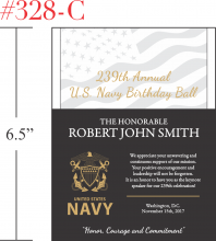 US Navy Birthday Ball Speaker Appreciation