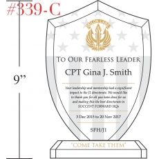 Military Fearless Leader Recognition Gift