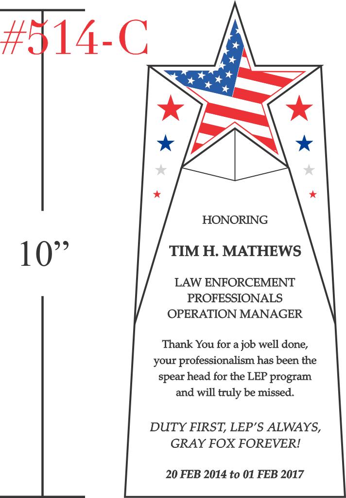 Law Enforcement Manager Service Award