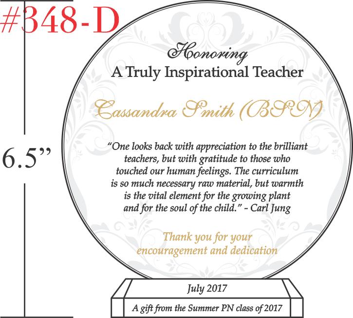 Gift to Honor an Inspirational Teacher