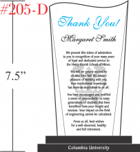 Professor Thank You Gift Plaque