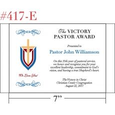 Leadership & Commitment Award for Pastor