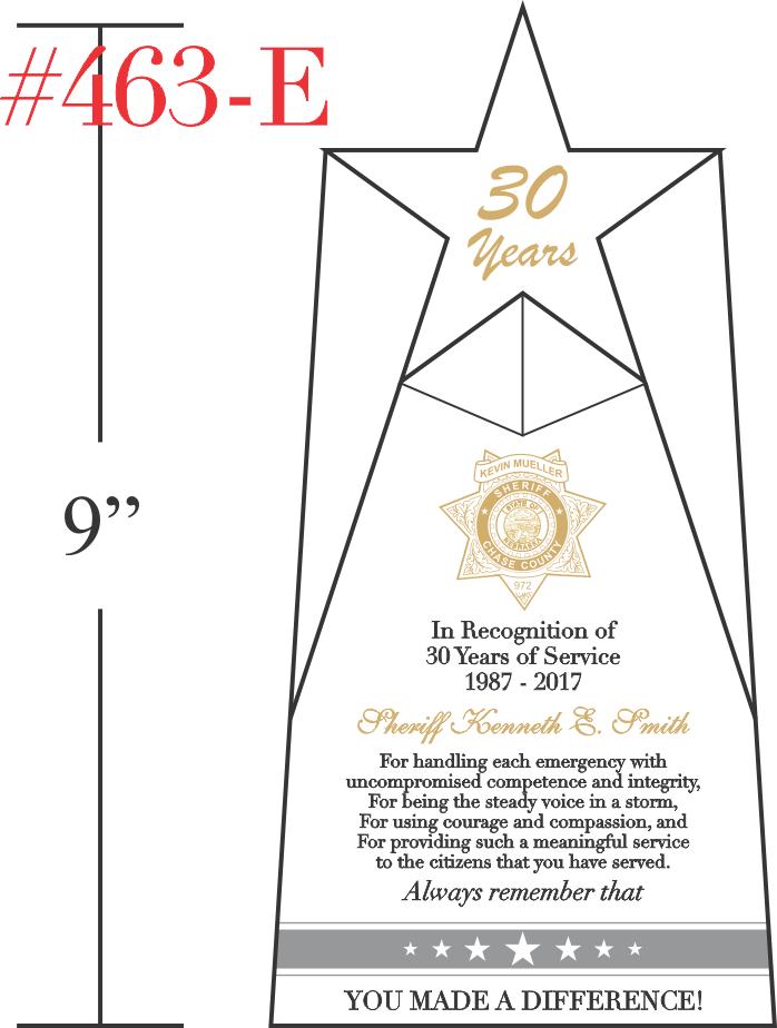 Retirement Gift Idea for Sheriff