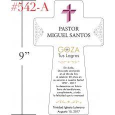 Placa/Regalo de Aniversario Pastoral