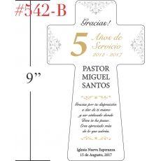 Cruz De Apreciación Placa Para Pastor Crystal Central