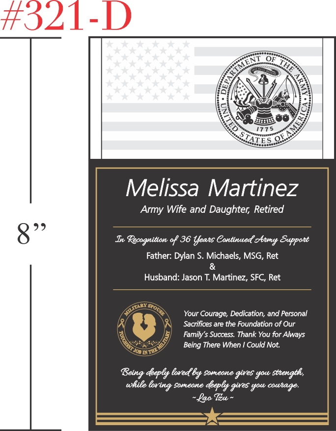 Wording For Military Plaque Dedication | Party Invitations ...